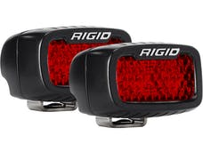 RIGID Industries 90173 SR-M Series Diffused Rear Facing High/Low SM Red Set Of 2