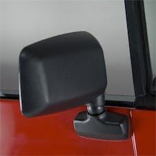 Rugged Ridge 11002.18 Door Mirror; Black; Right Side; 87-95 Jeep Wrangler YJ
