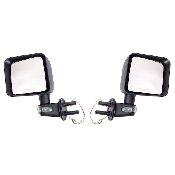Rugged Ridge 11002.22 Door Mirror Kit with Turn Signals; Black; 07-17 Jeep Wrangler JK