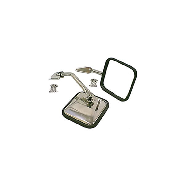 Rugged Ridge 11005.01 Side Mirror Kit, Stainless Steel