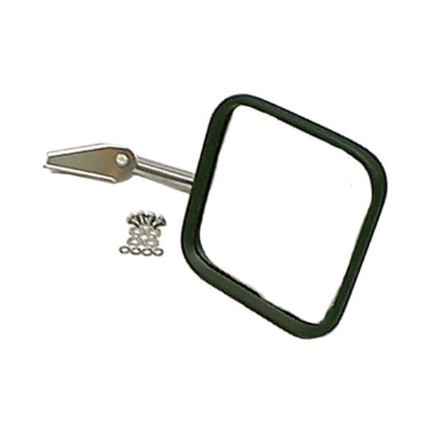 Rugged Ridge 11005.04 Mirror Head and Arm; Stainless Steel; Right Side; 55-86 Jeep CJ Models