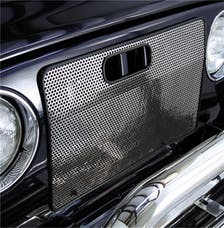 Rugged Ridge 11106.03 Radiator Bug Shield; Stainless Steel; 97-06 Jeep Wrangler TJ