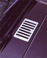 Rugged Ridge 11117.04 Cowl Vent Cover, Stainless Steel; 98-06 Jeep Wrangler TJ
