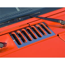 Rugged Ridge 11117.05 Cowl Vent Cover, Stainless Steel; 07-16 Jeep Wrangler JK