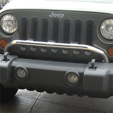 Rugged Ridge 11138.20 Bumper Mounted Light Bar; Stainless Steel; 07-17 Jeep Wrangler JK