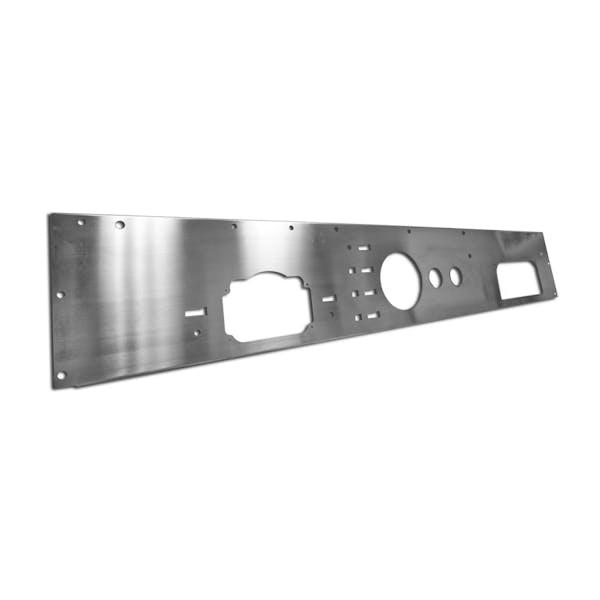 Rugged Ridge 11144.11 Dash Panel; Holes; Stainless Steel; 76-86 Jeep CJ Models