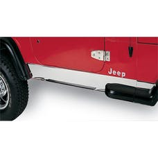Rugged Ridge 11145.01 Rocker Panel Cover; Stainless Steel; 87-95 Jeep Wrangler YJ