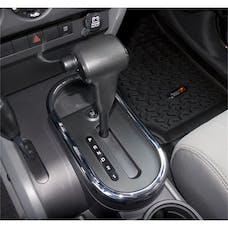 Rugged Ridge 11156.02 Transmission Shifter Trim, Chrome Automatic