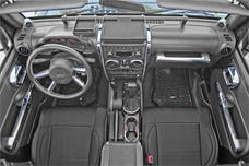 Rugged Ridge 11156.91 Interior Trim Accent Kit; Chrome; 07-10 Jeep Wrangler JK