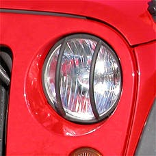 Rugged Ridge 11230.03 Headlight Euro Guards; Black; 07-17 Jeep Wrangler JK
