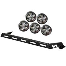 Rugged Ridge 11232.07 Hood Light Bar Kit; 5 Round LED Lights; 07-17 Jeep Wrangler JK