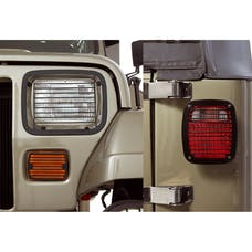 Rugged Ridge 11236.20 Stone Guard Set; Black; 87-95 Jeep Wrangler YJ