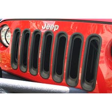 Rugged Ridge 11306.30 Grille Inserts; Black; 07-17 Jeep Wrangler JK