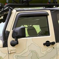 Rugged Ridge 11349.11 Window Visors, Matte Black, 2-Door; 07-16 Jeep Wrangler JK