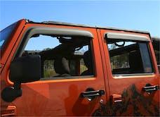 Rugged Ridge 11349.12 Window Visors, Matte Black, 4-Door; 07-16 Jeep Wrangler JK