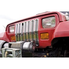 Rugged Ridge 11401.01 Billet Grille Inserts; Chrome; 87-95 Jeep Wrangler YJ
