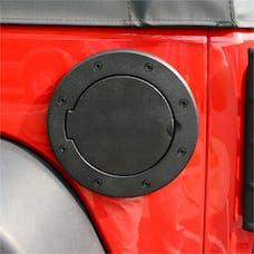 Rugged Ridge 11425.05 Non-Locking Gas Cap Door, Black; 07-16 Jeep Wrangler JK