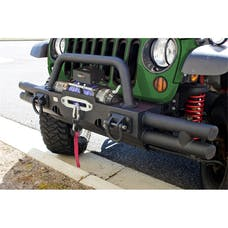 Rugged Ridge 11540.21 Tubular Ends; XHD Modular Front Bumper; Black