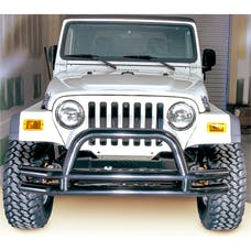 Rugged Ridge 11560.01 Double Tube Front Bumper w/ Hoop, 3in