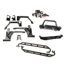 Rugged Ridge 11615.51 XHD Armor Package; Bumper with Hoop Over Rider