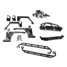 Rugged Ridge 11615.54 XHD Armor Package; Bumper with Double X Striker