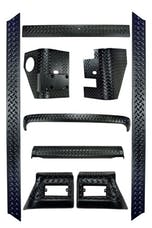 Rugged Ridge 11650.50 9 Piece Full Body Armor Kit; 97-06 Jeep Wrangler TJ