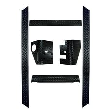 Rugged Ridge 11650.51 6 Piece Body Armor Kit; 97-06 Jeep Wrangler TJ
