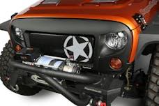 Rugged Ridge 12034.31 Spartan Grille Kit; Star; 07-17 Jeep Wrangler JK