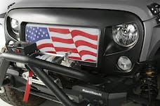 Rugged Ridge 12034.32 Spartan Grille Kit; American Flag; 07-17 Jeep Wrangler JK