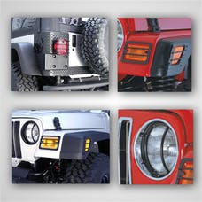 Rugged Ridge 12495.02 Euro Guard Light Kit; 97-06 Jeep Wrangler TJ