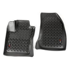 Rugged Ridge 12920.34 Floor Liners, Front, Black; 15-16 Jeep Renegade