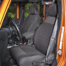 Rugged Ridge 13215.01 Neoprene Front Seat Covers; Black; 11-17 Jeep Wrangler JK