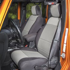 Rugged Ridge 13215.09 Neoprene Front Seat Covers; Black/Gray; 11-17 Jeep Wrangler