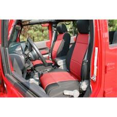 Rugged Ridge 13215.53 Neoprene Front Seat Covers; Black/Red; 11-17 Jeep Wrangler