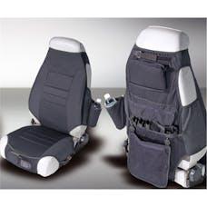 Rugged Ridge 13235.01 Fabric Seat Protectors; Black; 76-06 Jeep CJ/Wrangler YJ/TJ