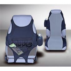 Rugged Ridge 13235.19 Fabric Seat Protectors; Black/Gray; 76-06 Jeep CJ/Wrangler YJ/TJ