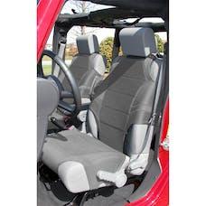 Rugged Ridge 13235.32 Neoprene Seat Protector Vests; Gray; 07-17 Jeep Wrangler JK