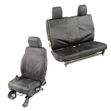 Rugged Ridge 13256.07 840 Denier Black Ballistic Seat Cover Set