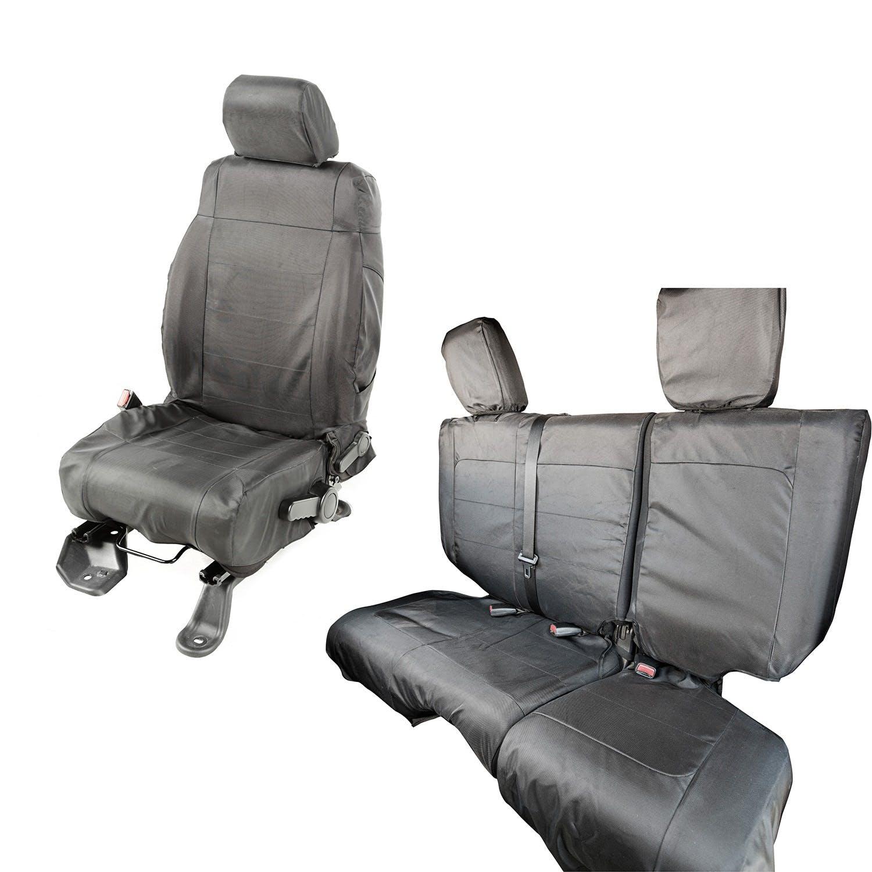Rugged Ridge 13297.04 Black//Tan Seat Cover Kit for 11-18 Jeep Wrangler 4-Door JK