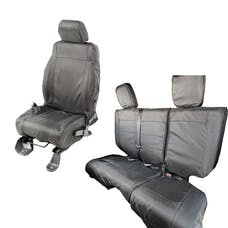 Rugged Ridge 13256.08 840 Denier Black Ballistic Seat Cover Set
