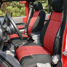 Rugged Ridge 13296.53 Seat Cover Kit, Black/Red