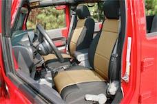 Rugged Ridge 13297.04 Seat Cover Kit, Black/Tan