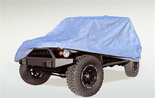 Rugged Ridge 13321.70 HD Full Car Cover; 55-06 Jeep CJ/Wrangler YJ/TJ