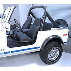 Rugged Ridge 13401.01 High-Back Front Seat; No-Recline; Black; 76-02 Jeep CJ/Wrangler YJ/TJ