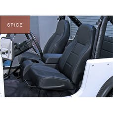Rugged Ridge 13401.37 High-Back Front Seat; No-Recline; Spice; 76-02 Jeep CJ/Wrangler YJ/TJ