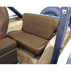 Rugged Ridge 13462.37 Fold and Tumble Rear Seat; Spice; 76-95 Jeep CJ/Wrangler YJ