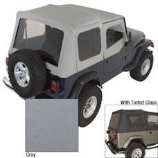 Rugged Ridge 13702.09 Soft Top; Door Skins; Charcoal; Tinted Windows; 88-95 Jeep Wrangler YJ