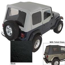 Rugged Ridge 13702.15 Soft Top; Door Skins; Black; Tinted Windows; 88-95 Jeep Wrangler YJ