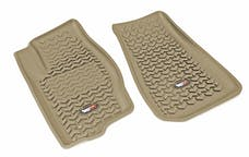 Rugged Ridge 13920.28 Floor Liners, Front, Tan; 05-10 Jeep WK/XK