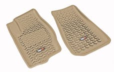 Rugged Ridge 13920.30 Floor Liners, Front, Tan; 07-12 Caliber /07-16 MK